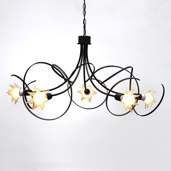 lustre maputo a 5 branches cyrille varet. Black Bedroom Furniture Sets. Home Design Ideas