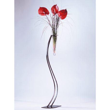 Vase Tsuta Vase - pietement metal et cône en verre - 110cm -  238.00 €