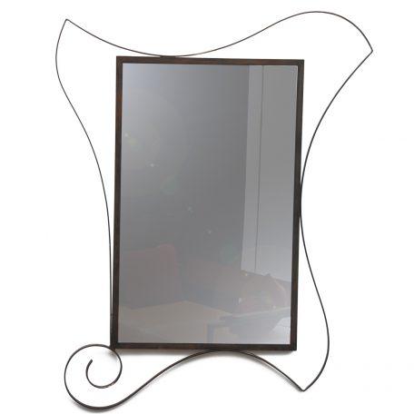 Grand Mirage Miroir encadrement métal et volutes - 120X150 Prix :  1400 €