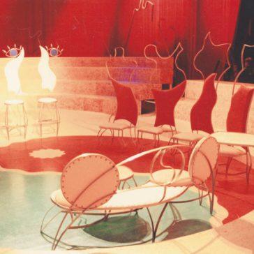 Talk show set decor