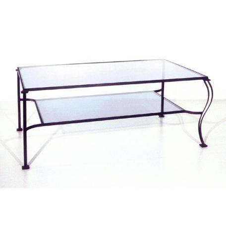 Table basse double plateaux verre - 1180€